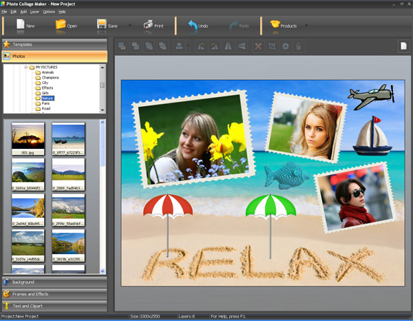 Photo Collage Maker - photo collage maker, photo collage software, digital scrapbook, frame, mask, art, photo - Digital scrapbooking and photo collage software.