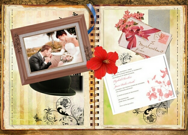 Vintage Family Scrapbook Layout