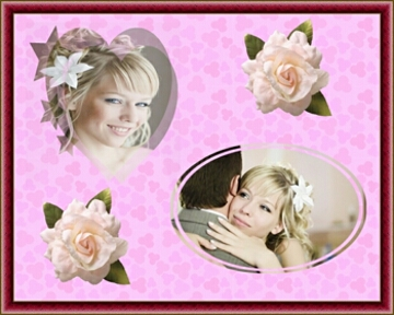 Wedding Collage with Masks