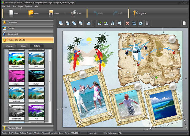 Making a photo book: edit photos with filters