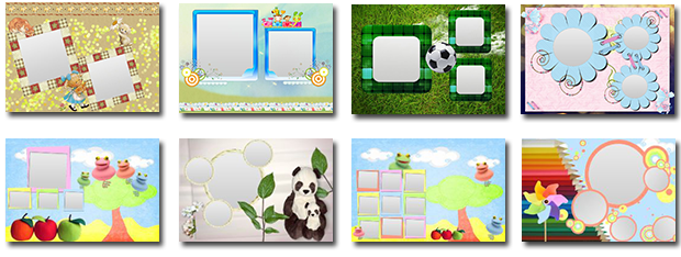 Children collage templates