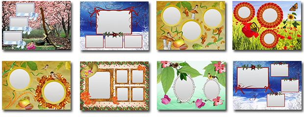 Season collage templates