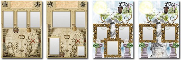 Vintage collage templates