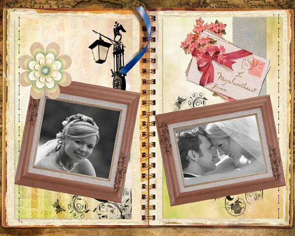 Another popular wedding scrapbook idea is giving your photographs a special